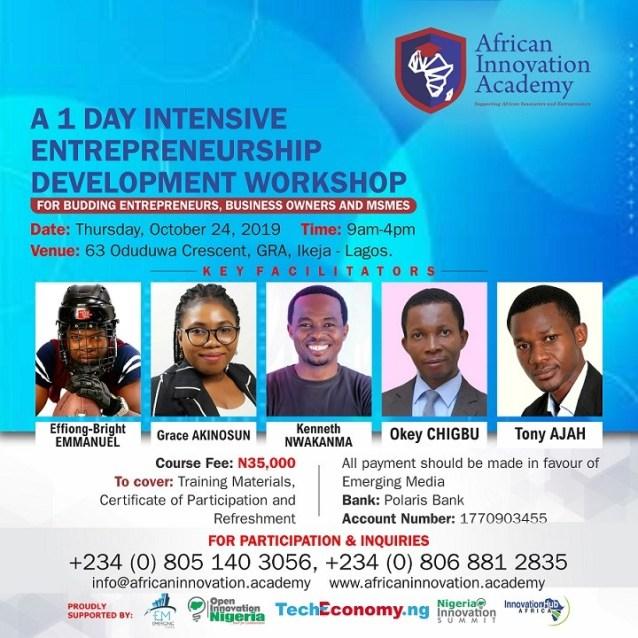 African Innovation Academy Workshop 2019