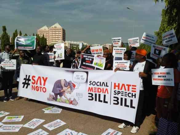 Nigerians refuse #NoToSocialMediaBill