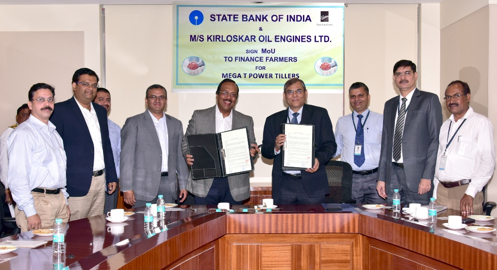 SBI Join Hands with Kirloskar for Agriculture Finance