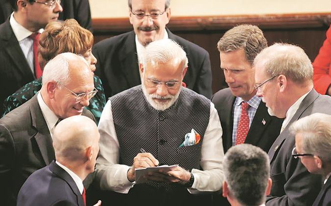 PM Modi Promotes GST Among US Businesses, Urged them to Invest in India