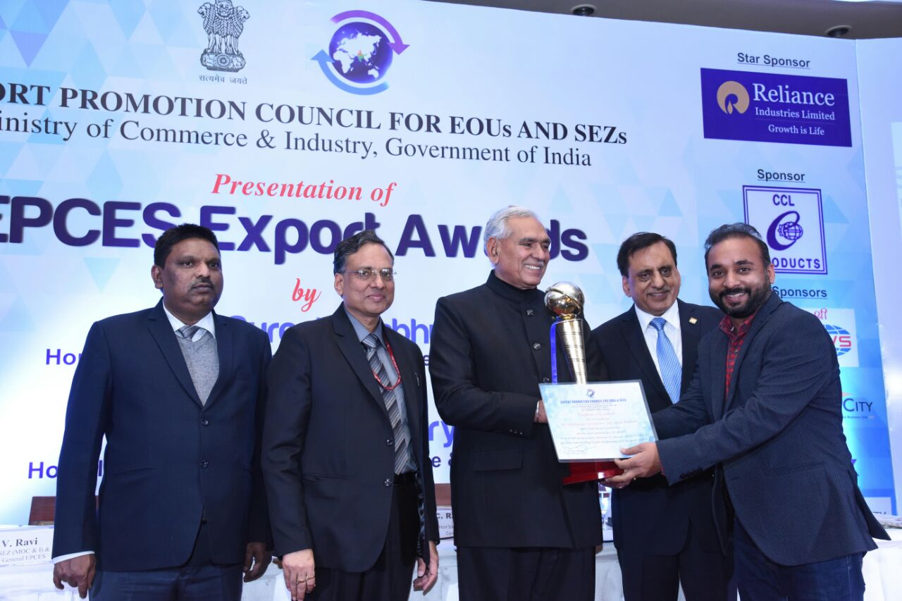 'TO THE NEW' Gets Best SEZ (MSME) Award