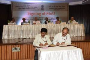 Ministry of Ayush and MSME Ministry Singed a MoU for Uplifting Holistic Healthcare