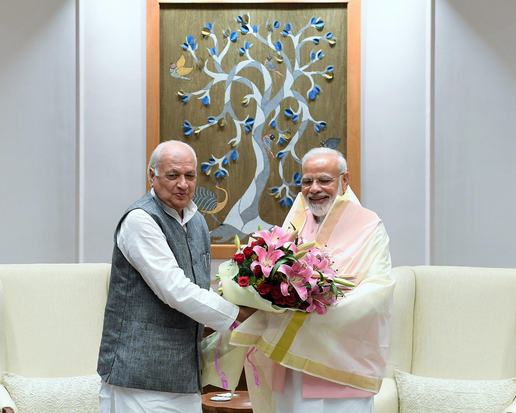 Kerala Governor Arif Mohammad Khan Met PM Narendra Modi