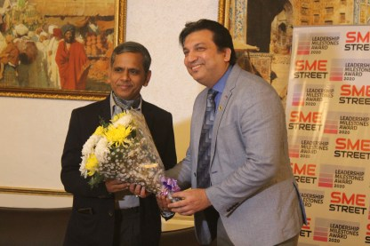 Mr. Faiz Askari Welcoming Mr. Ram Mohan Mishra, DC MSME, Govt. of India