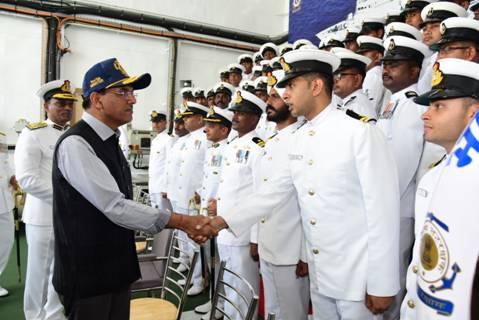 Mansukh Mandaviya Commissions Indian Coast Guard's Offshore Patrol Vessel ICGS Varad