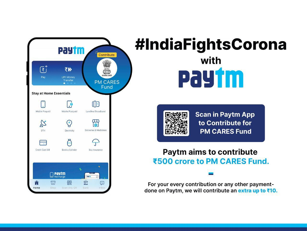 Paytm Revamps UI with Stay at Home Essential Payments & Launches COVID-19 Information Centre