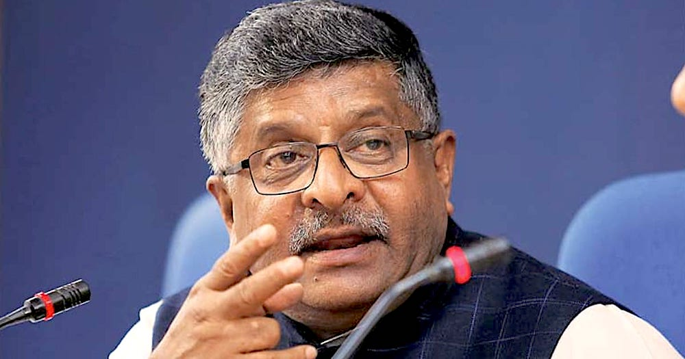 Digital Ecosystem Needs a  Legal Framework for Governance: Ravi Shankar Prasad