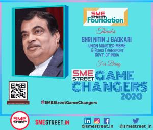 Nitin J Gadkari Union Minister-MSME & Road Transport Govt. of INdia, SMEStreet GameChangers, SMEStreet, Faiz Askari