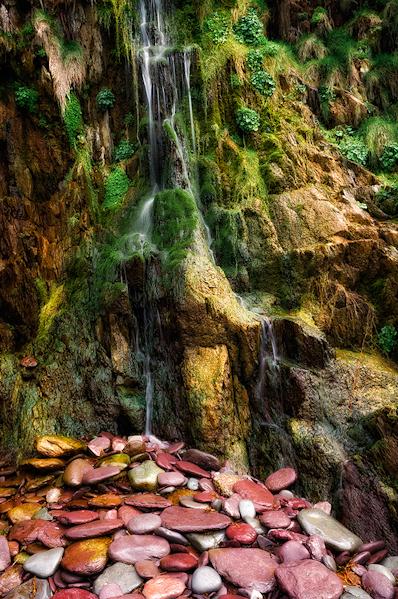 Rocks and Waterfall