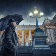 PAGB Ribbon-Rainy Night in Melbourne-Adrian Peter Donoghue--s Australia