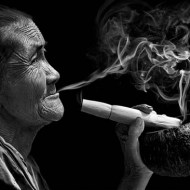 sps ribbon-portrait of a cheroot smoker-martin horton-england