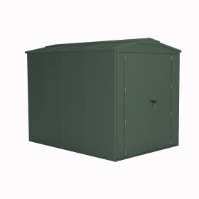SM Garden Sheds Outbox Heavy Duty Three Compartment / Folding Cycle Metal Locker