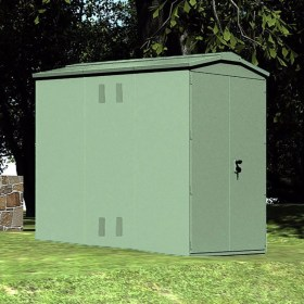 Outbox 5'x7' Secure Heavy Duty Metal Shed (Various Colours