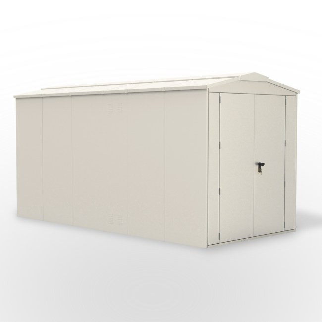 SM Garden Sheds Outbox 6'x12' XL Secure Heavy Duty Metal Shed (Various Colours)