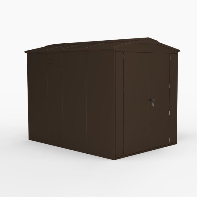 SM Garden Sheds Outbox 6'x8 XL Secure Heavy Duty Metal Shed (Various Colours)