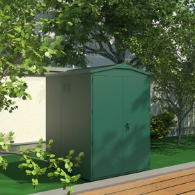 SM Garden Sheds Outbox Horizontal 3'x6' Heavy Duty Metal  Bicycle Storage