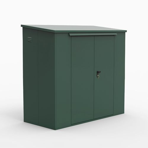 SM Garden Sheds Outbox 6'x3' Tall Pent Secure Heavy Duty Metal Shed (Various Colours) (Suitable for Caravans)