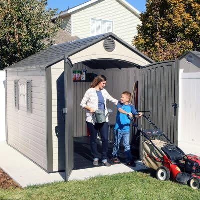 Lifetime 8ft Front Special Edition Heavy Duty Plastic Shed (Various Sizes)