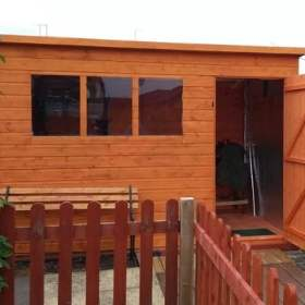 SM Garden Sheds Woodlands Tool Tower Shiplap 3x3 Wooden Shed