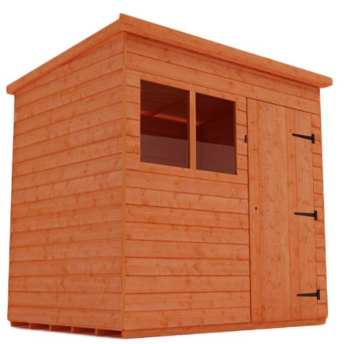 Woodlands  Shiplap 5x4 Timber Pent Wooden Shed (Customisable)