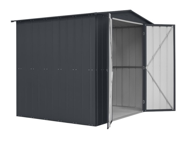 SM Garden Sheds Lotus 8x6 Double Hinged Motorcycle Metal Shed (Various Colours)
