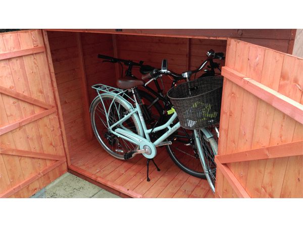 Woodlands Low Pent Compact 7x4 Timber Bike Shed