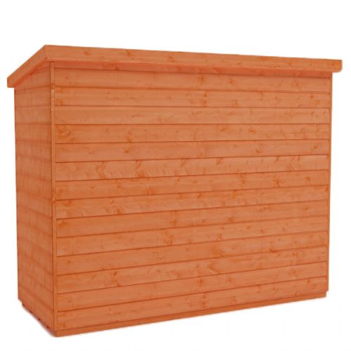 SM Garden Sheds Woodlands Low Pent Compact 7x3 Timber Bike Shed