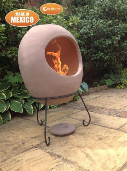SM Garden Sheds Ellipse Extra Large Mexican Chimenea -Rose  - Contemporary Range