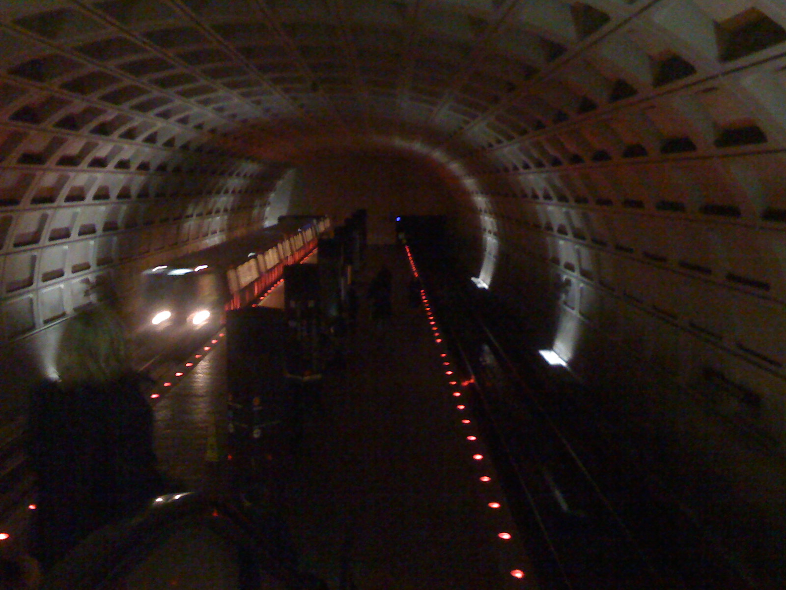 March 19: Lights out at Eastern Market Metro station.