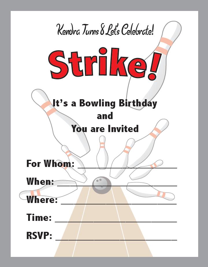 Pre Printed Birthday Party Invitations