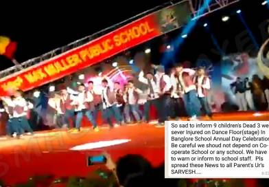 Unfortunate but no student died on stage while dancing when pillar fell and it's not recent.
