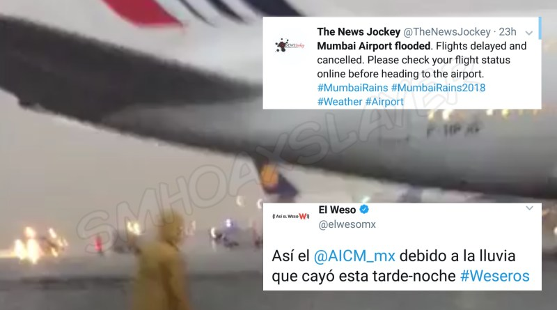 While Mumbai airport was flooded too but the viral video is from Mexico, last year !