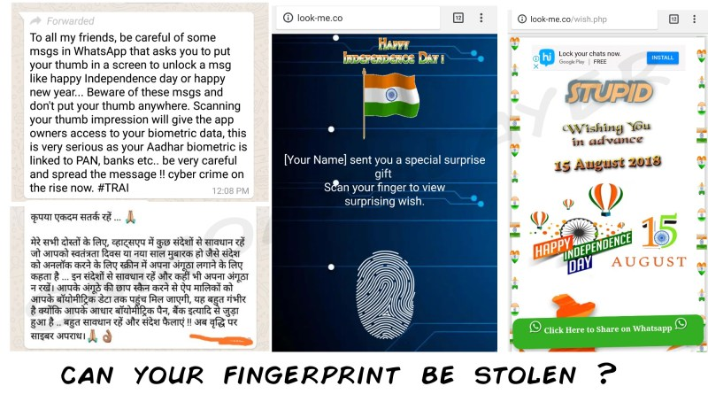 Don't panic, this yet another usual WhatsApp scam won't steal your fingerprint.