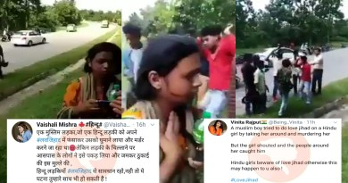 This unfortunate incident of a man attacking a girl is viral with false communal narrative.