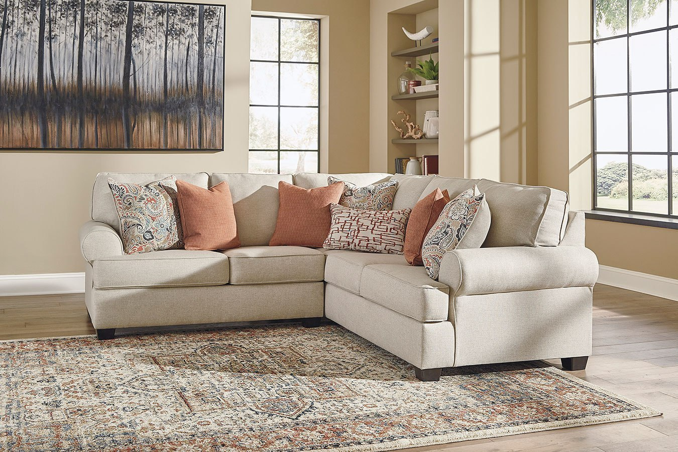 amici linen sectional