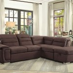 Platina Sectional W Pull Out Bed And Storage Ottoman By Homelegance Furniturepick