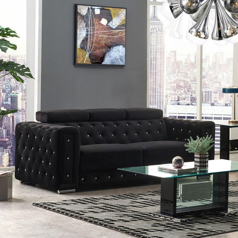 ufm365 black velvet sofa