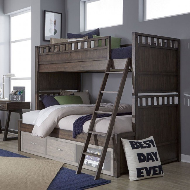sawyers mill twin over full bunk bed