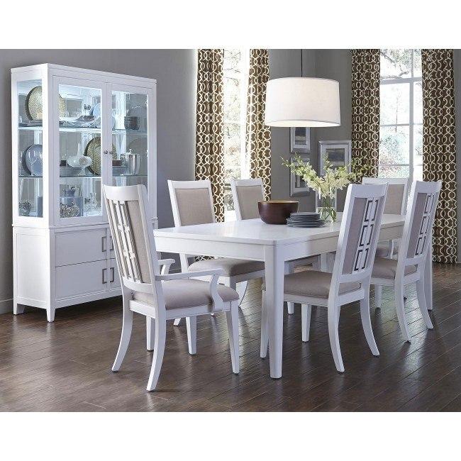 Brighton White Dining Room Set By Samuel Lawrence Furniture Furniturepick