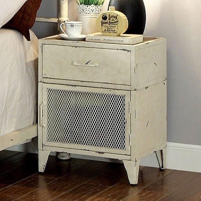 haldus nightstand distressed white
