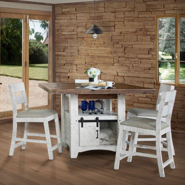 Pueblo Storage Counter Height Dining Room Set By Ifd Furniture Furniturepick