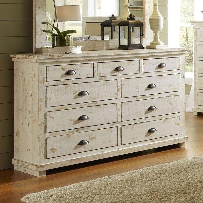 willow drawer dresser distressed white