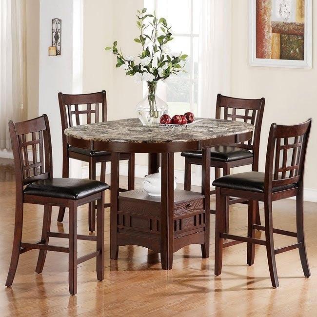 Jovan Oval Counter Height Dining Room Set Coaster Furniture Furniturepick