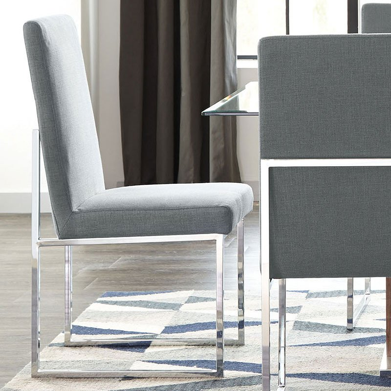 Jackson Floating Dining Chair Grey Set of 2  Dining