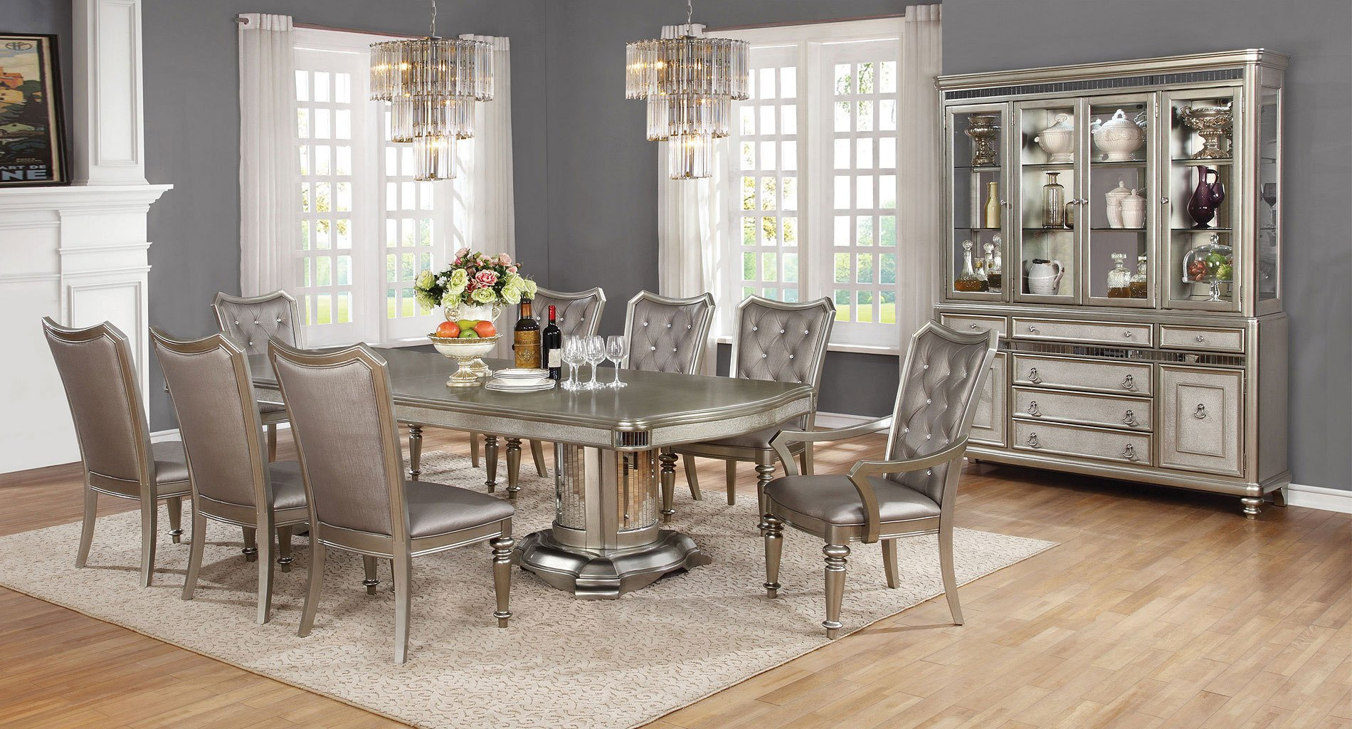 ashley furniture kitchen table and chairs reclaimed wood dining bling game room set coaster | furniturepick
