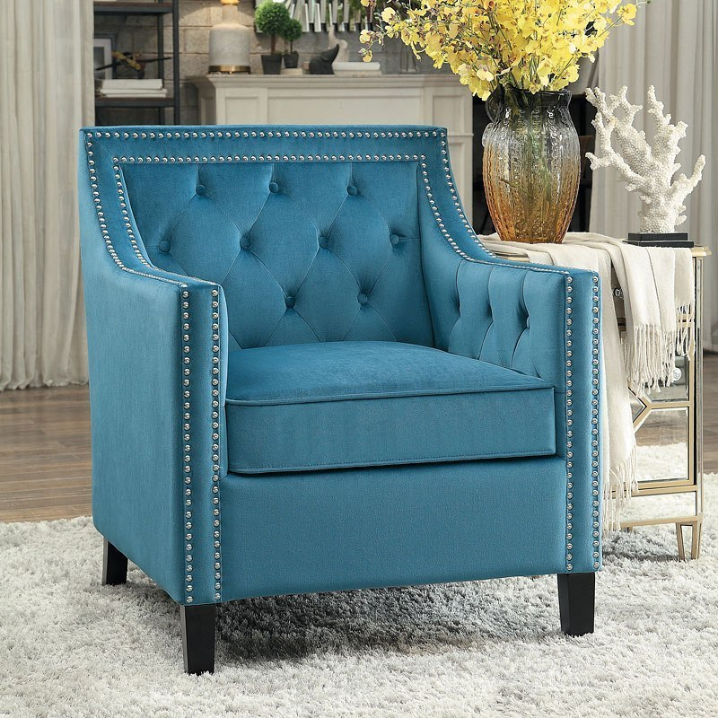 accent chair blue posture back pain grazioso by homelegance furniturepick