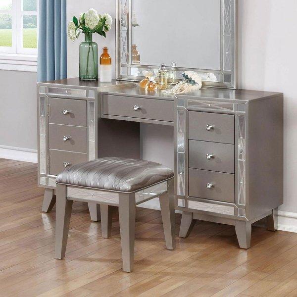 Leighton Vanity Desk With Stool Coaster Furniture