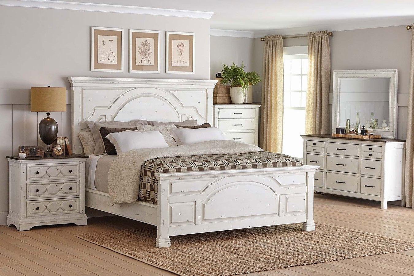 Celeste Panel Bedroom Set Vintage White by Coaster