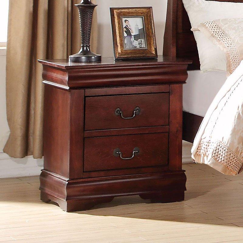 Louis Philippe Nightstand Cherry Nightstands Bedroom
