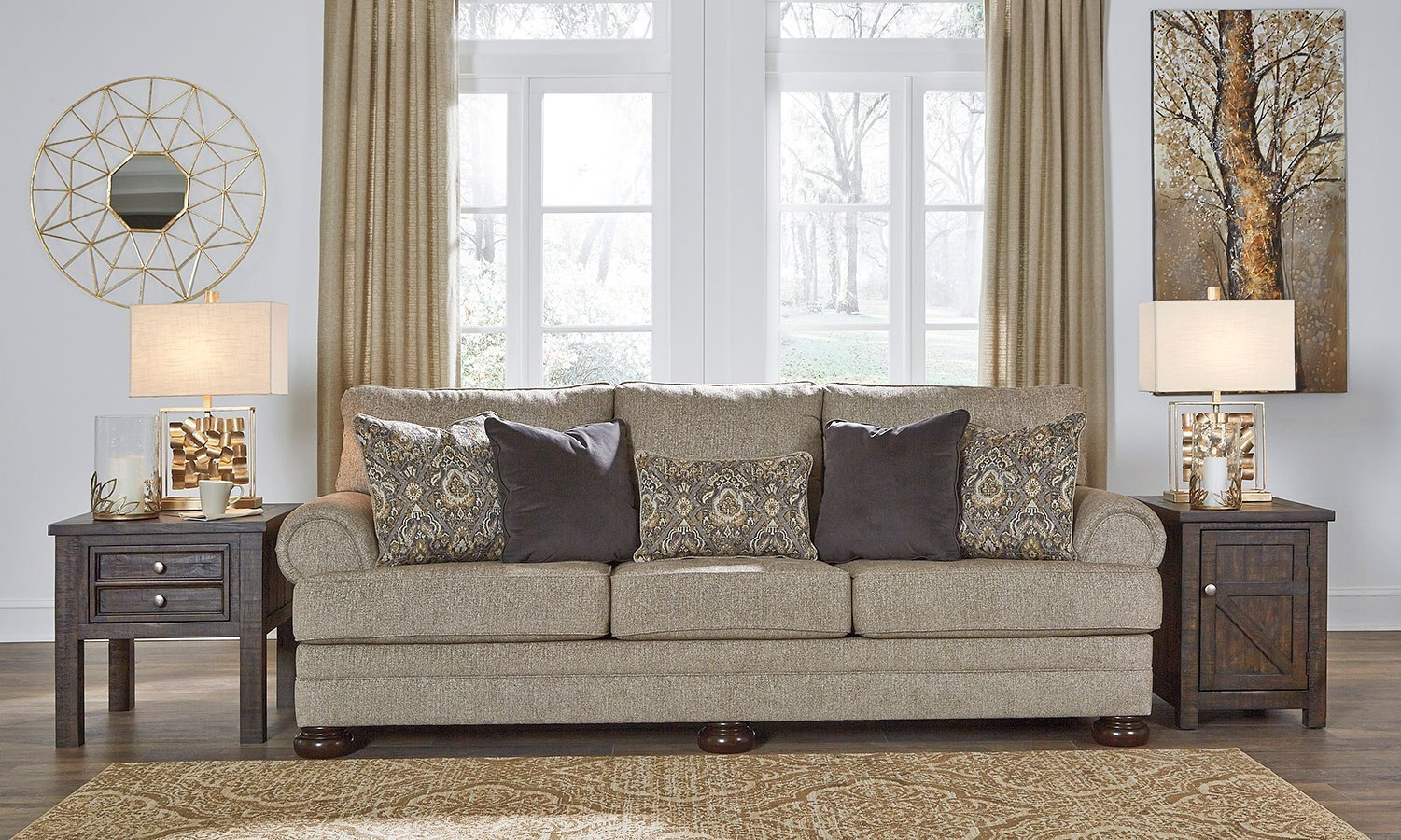 Explore our favorite colorful living rooms now! Kananwood Oatmeal Sofa by Signature Design by Ashley ...